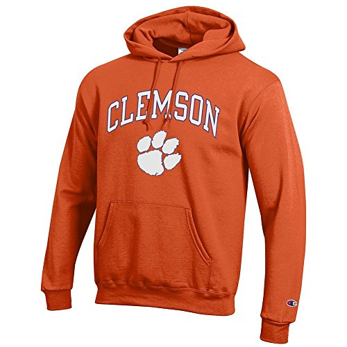Elite Fan Shop NCAA Clemson Tigers Men's Team Color Hoodie Sweatshirt, Orange, X-Large