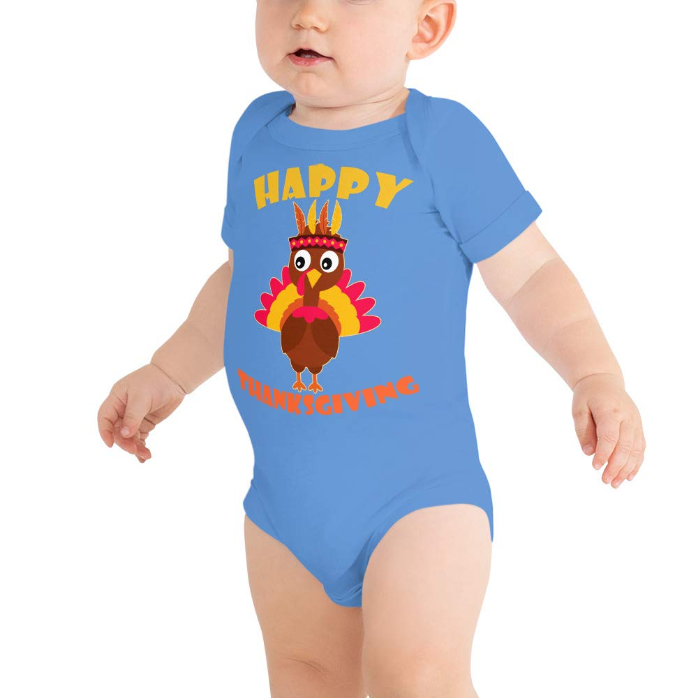 payatek Kids Happy Thanksgiving Funny Cute Baby Bodysuits Baby Shirt Happy Turkey Day