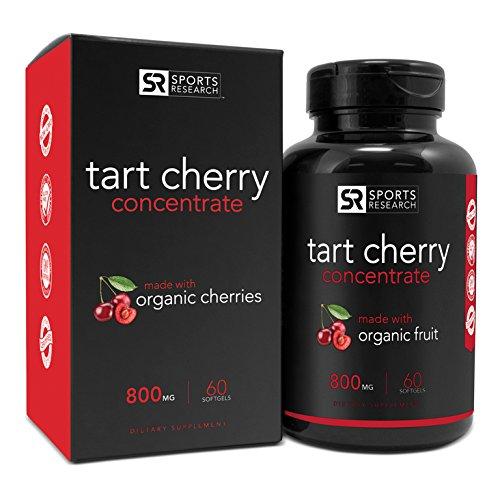 #LightningDeal 85% claimed: Tart Cherry Concentrate - Made from Organic Cherries; Non-GMO & Gluten Free; Packed with Antioxidants and Flavonoids - 60 Liquid Softgels, 2 Month Supply!