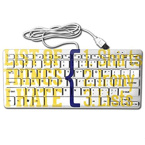 List Of Things I Hate Mini Keyboard Wired Thin Light 78 Keys USB For Pc Computer - Tumblr Black My Boyfriend