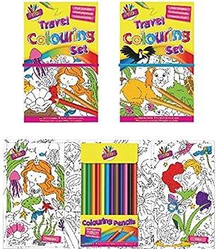 Tallon Viajes para Colorear Juego de los niños [Pack de 6]: Amazon ...