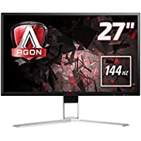 AOC International Agon 27 inch 144 Hz 2560 x 1440 LED Gaming Monitor, 1 ms Response Time, Height Adjust, Display Port, HDMI, DVI, VGA, Speakers, 4 x USB 3.0, Adaptive Sync, Vesa AG271QX