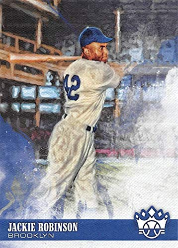 Jackie Robinson 2018 Donruss Diamond Kings Mint Card #28 Picturing This Brooklyn Dodgers Star in His Grey -
