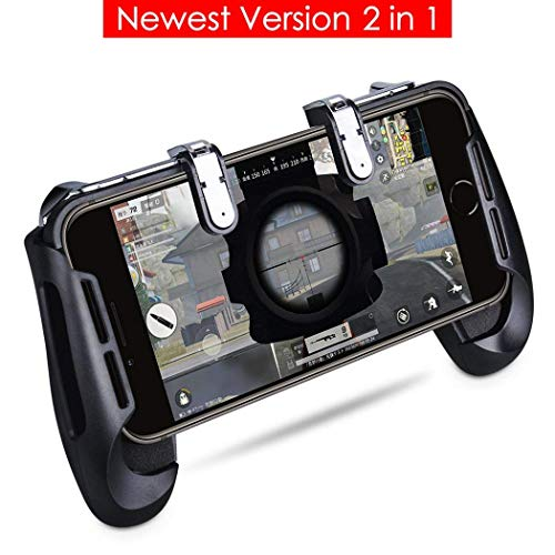 Qoosea Compatible with PUBG Mobile Controller Mobile Game Controller Sensitive Shoot and Aim Keys L1R1 Shooter Handle Grip Controller for Android IOS Joysticks PUBG Knives Out Rules of Survival