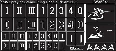 Alliance Model Works 1:35 Spraying Stencil Tiger I Late s PzAbt 507 #LW35038