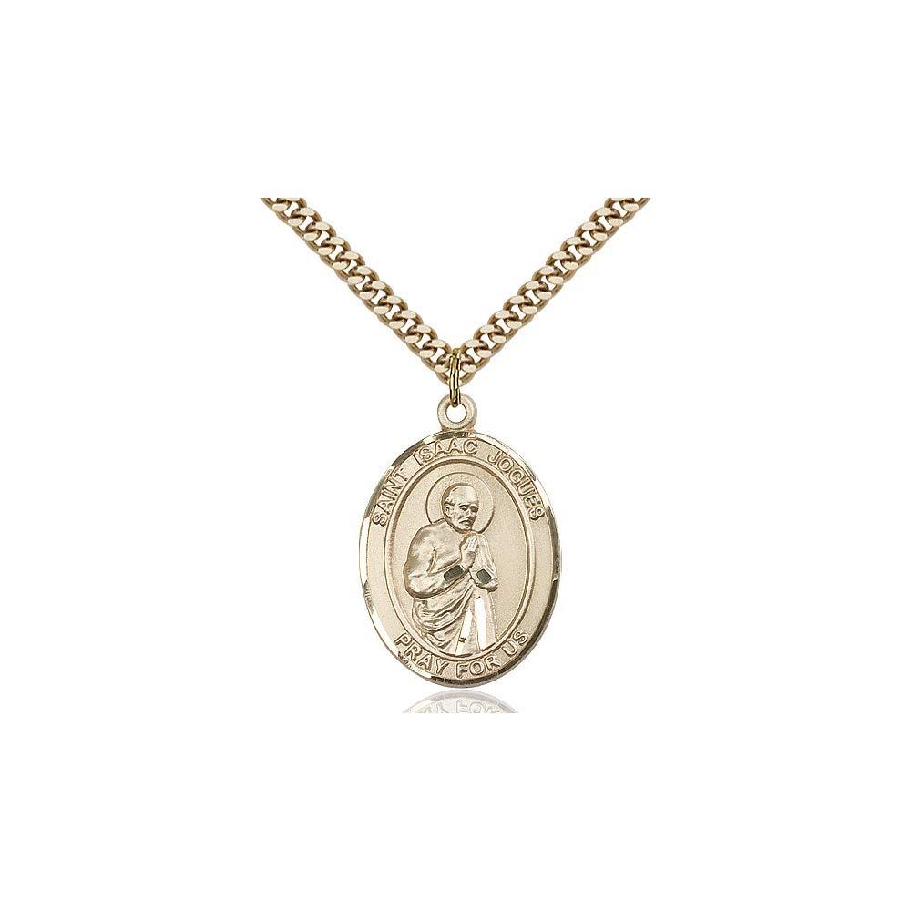 DiamondJewelryNY 14kt Gold Filled St Isaac Jogues Pendant