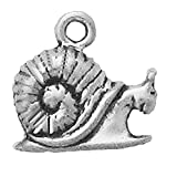 925 Sterling Silver Classic Slimy Snail Slug With Shell Pendant Charm Slug