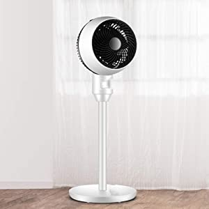 ZPEE Pedestal Fan for Home Office,3D Oscillating Air Conditioner Fan,3 Wind Speeds Standing Tower Fan,Super Quiet Floor Electric Fan Machinery 32x32x86cm(13x13x34inch)