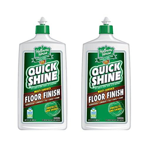 (Quick Shine Floor Finish, 27 fl oz - 2 Bottles)