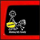 Making My Family stick Figure Family Funny car vinyl sticker censored