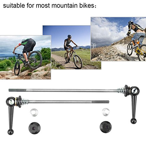 2Pcs Bicycle Skewers Ultralight Titanium Alloy Quick Release Skewers Set Bike Replacement Repair Parts Accessory for MTB Road Bike -