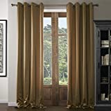 "IYUEGO Traditional Solid Eco-friendly Grommet Top Lining Blackout Curtains Draperies With Multi Size Custom 100"" W x 108"" L (One Panel)"