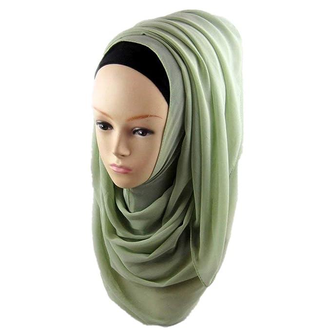 Yasminey Bufanda De Gasa De Hijab Mujeres Musulmanas Musulmán Las Abrigo Árabe Chic Ropa Chal Headwear
