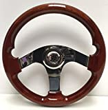 Boat Steering Wheel Quality Mahogany & Stainless 350mm Speedboat Cruis