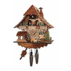 mygermanstore Traditional Cuckoo Clock Black Forest House with Dancers [Kitchen & Home]