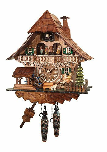 Cuckoo Clock Quartz-movement Chalet-Style 32cm by - Clock Deer Cuckoo