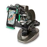 Carson Advanced 40x-1600x Compound Microscope with Universal Smartphone Optics Digiscoping Adapter (MS-160UN)