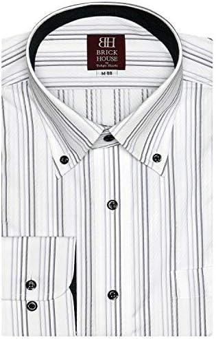 ブリックハウス ワイシャツ 長袖 形態安定 ボタンダウン 袖の長い・袖の短い・大きい メンズ BM010103AA13B1A-34