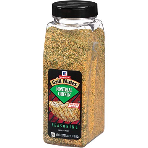 (McCormick Grill Mates Montreal Chicken Seasoning (Features a Savory Blend of All-Natural Herbs and Spices Like Garlic, Salt, Onion, Orange Peel, Paprika and Green Bell Pepper, Certified Kosher), 23 oz)