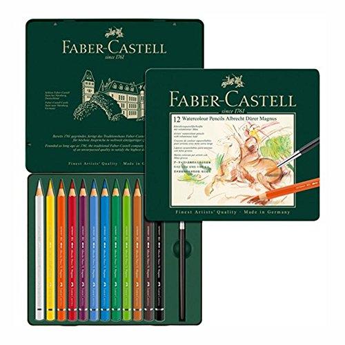 Faber Castell 12 Watercolor Pencils in Tin Box Albrecht Durer Magnus.
