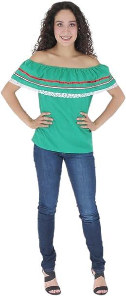 Amazon.com: Mexicano ropa Co para mujer de mexicana blusa ...