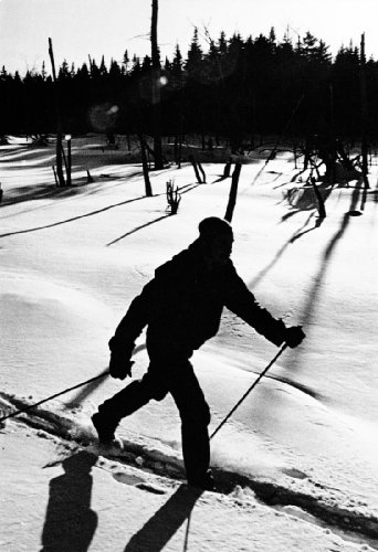 Cross Country Skiing, New Hampshire, XC Skier, Winter Sports, Vintage, Ski