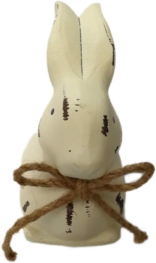 NAttnJf Lindo Conejo de Pascua de Madera artesanía decoración del hogar Adorno de Boda Suministros de Regalo Beige