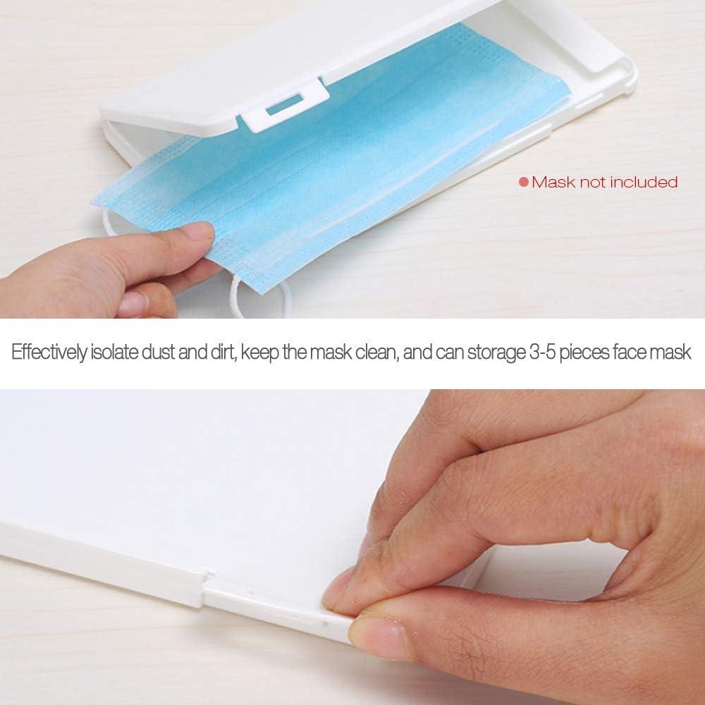 KKmoon Aufbewahrungsbox Tragbare Einweg Flache Kunststoffbox Staubdichte feuchtigkeitsbest/ändige Reinigungsbox 19 x 11 x 1,2 cm Blau