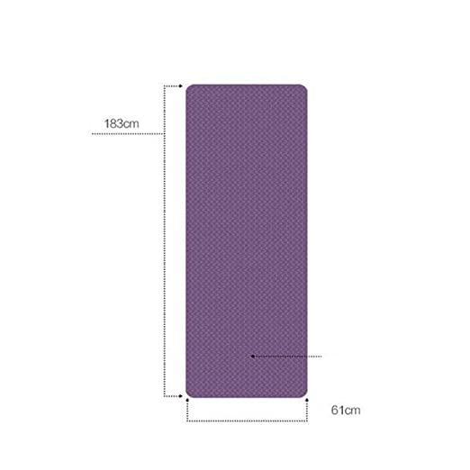 WINOMO Yoga Mat 6mm Non Slip Exercise Mat Thick Fitness Pilates Workout Pad Dark Purple