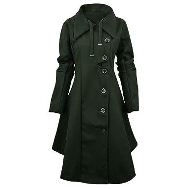 Petalum Damen Jacke Winter Vintage Gotic Unregelmäßig