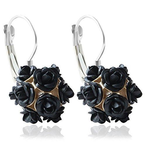 deeseetm-flower-rose-women-girls-crystal-stud-earrings-gift-drop-stud-earrings-black