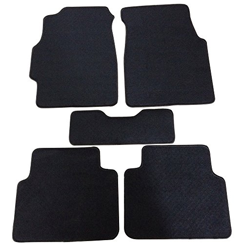 (Floor Mats Fits 1994-2001 ACURA INTEGRA DC | Nylon Black Front Rear Carpet by IKON MOTORSPORTS | 1995 1996 1997 1998 1999 2000)