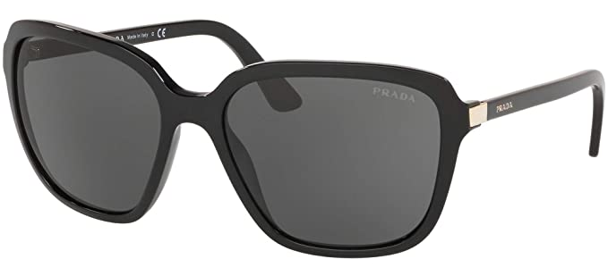Amazon.com: Prada PR10VS 1AB5S0 - Gafas de sol con lentes de ...