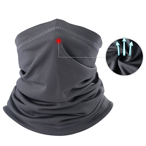 Wind Protection - THINDUST Summer Neck Gaiter Warmer - Multi-Function Face Mask - Dust Sun Wind Protection UV Resistance Soft & Breathable