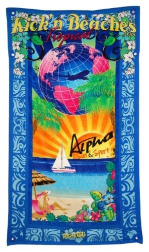 Best Ultimate Luxury Oversized Beach Pool Towel and Bag Hidden Pockets Also Perfect As All in One Cruise Shore Excursion Bag for Kick'n Tropical Beach Lover Enthusiasts It Is Also Fully Wind Resistant