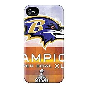 For Iphone 4/4s Tpu Phone Case Cover(baltimore Ravens)