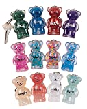 Geddes Jelly Bears Keychain Assortment - Set of 24