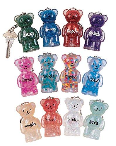 Geddes Jelly Bears Keychain Assortment - Set of 24
