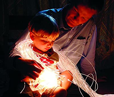 SE1001-LED1000 Sensory & Therapy Large Fiber Optic Lighting Kit - (100 Tails 3.28') With LED Colorchange Illuminator