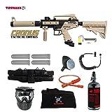MAddog Tippmann Cronus Tactical Specialist HPA Paintball Gun Package – Black/Tan