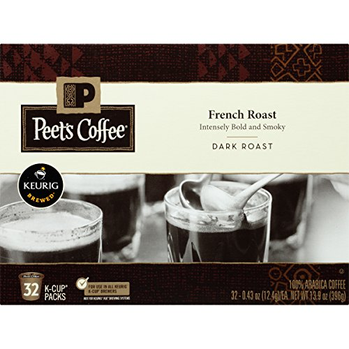 Peet's Coffee, French Roast, Bleak Roast, K-Cup Pack (32 ct.), Single Cup Coffee Pods, Bold Dark Roast Blend of Latin American Coffees, with A Smoky, Flavorful Chew; for All Keurig K-Cup Brewers