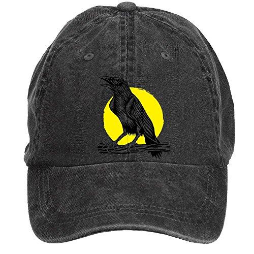 bounnty Unisex Crow with Moon Design Baseball Cap Hats