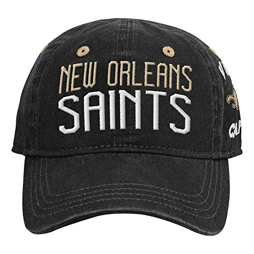 NFL by Outerstuff NFL New Orleans Saints Infant My First Slouch Hat Black, Infant One Size