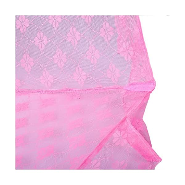 Baby Station Mosquito Net Floral Design (Medium, Pink) 2021 August Protection from mosquitoes and flies Lightweight,foldable, portable, ideal for traveling and home use It is 100% washable and anti-microbial