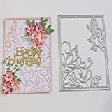 Caopixx Lace Flower DIY Scrapbooking Cutting Dies Metal Stencil Template for Greeting Card Cover Embossing (H2)