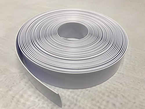 1.5'' Wide Vinyl Strap for Patio Pool Lawn Garden Furniture (45' Roll) Make Your Own Replacement Straps. PLUS - 50 Free Fasteners! (201 White)