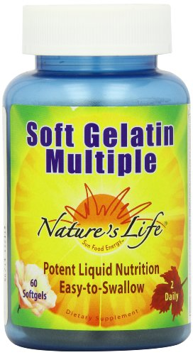 Cheap Nature's Life Soft Gelatin Multiple Softgels, 60 Count