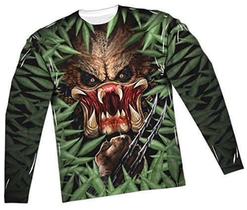 Hidden Threat -- Predator All-Over Long-Sleeve T-Shirt, XX-Large