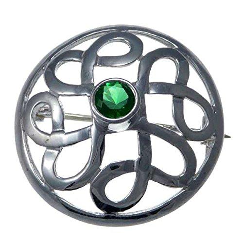 - Sterling Silver Celtic Brooch - Irish/Scottish Pin