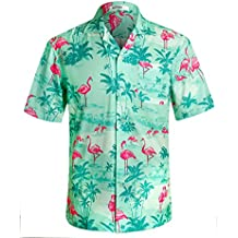 Men's Hawaiian Shirt Short Sleeve Tropical Print Floral Shirt